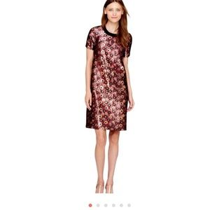 Nwt J.crew collection metallic jacquard dress